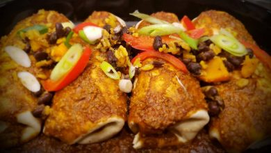 Photo of Hearty Black Bean and Squash Enchiladas