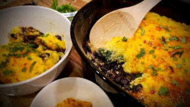 Photo of Mexican Black Bean and Polenta Casserole
