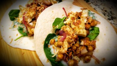 Photo of Simply Healthy Cauliflower Chickpea Wraps
