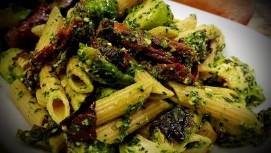 Photo of Creamy Vegan Kale Pesto Rigatoni