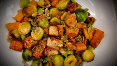 Photo of Smoky Tempeh Brussels Sprouts Hash