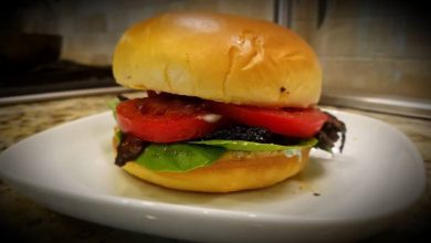 Photo of Homemade Portobello Mushrooms Burger