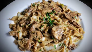 Photo of Crunchy High-Carb Cabbage Stroganoff