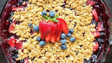 Photo of Simple Strawberry-Blueberry Crisp