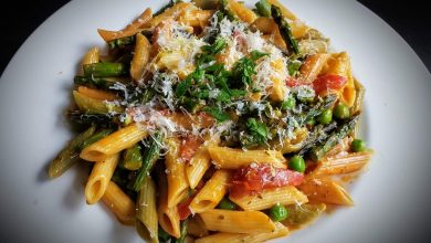 Photo of Creamy Roasted Red Pepper Pasta