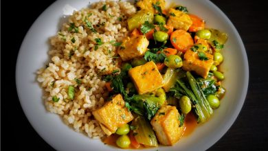 Photo of Simple Red Curry Tofu Bowl