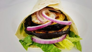 Photo of The American Roasted Eggplant & Feta Wraps