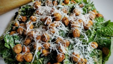 Photo of Healthy Roasted Vegan Chickpea Caesar Salad