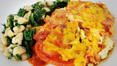 Photo of A Fully Loaded Skillet Sweet Potato Lasagna